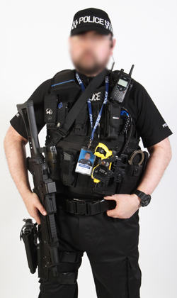 armed responce police officer uniform